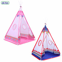 akitoo Indian toddler baby tent indoor princess girl toy play house fantasy game house polyester #153
