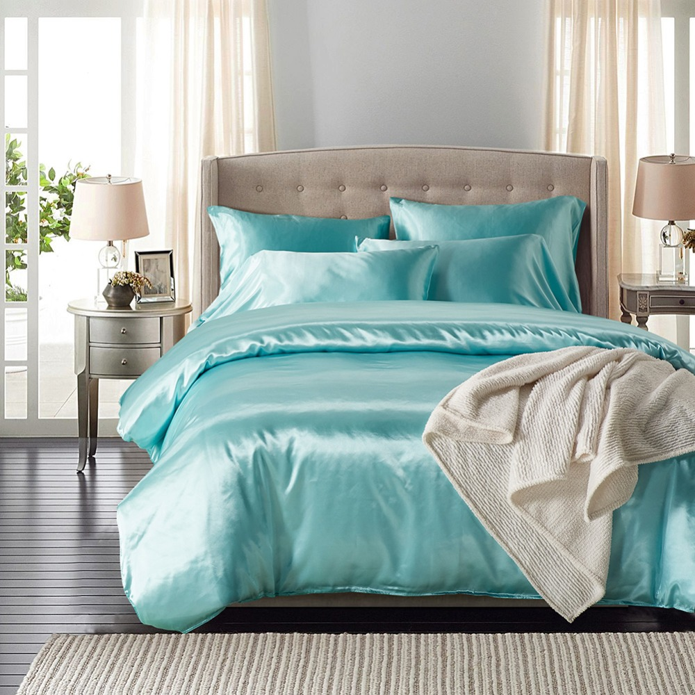 popular linen comforterbuy cheap linen comforter lots from china  - solid color silk satin bedding set modern luxury duvet cover set bedclothesbed linen comforter cover set pillowcase  pieces