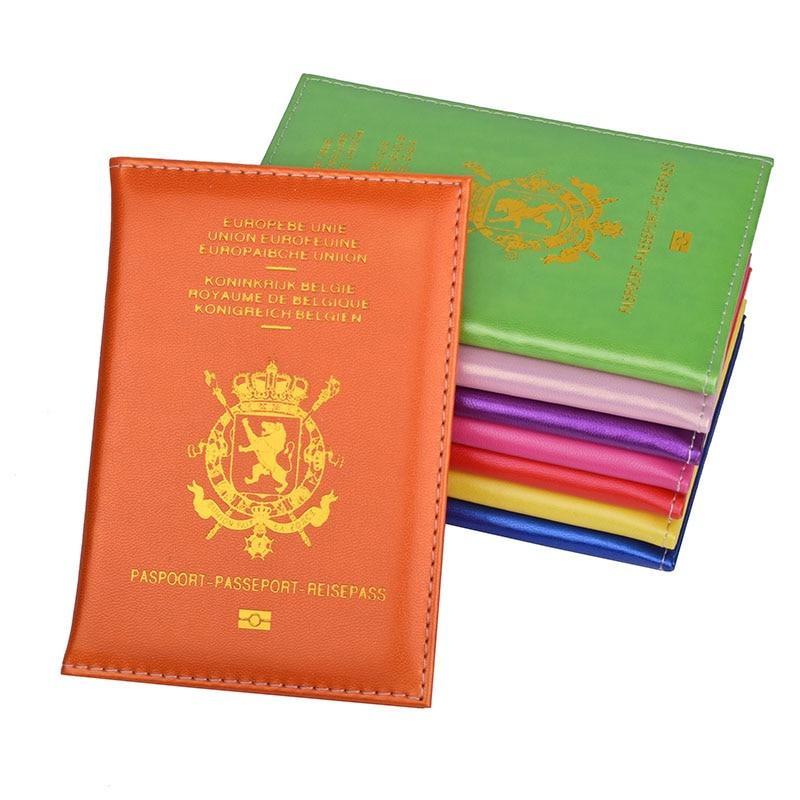 Belgie Pu Leather Passport Cover Women Men Belgium Passport Holder Belgien Travel Passport Case of Belgique belgium belgien 1 300 000