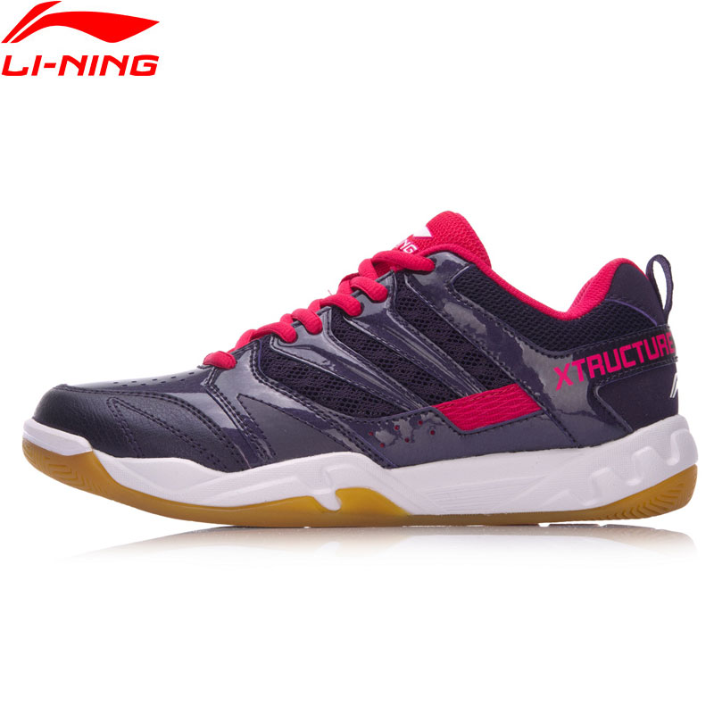 Li-Ning Women STRIKER Professional Badminton Shoes Breathable LiNing Sports Shoes Wearable Anti-Slippery Sneakers AYTN042 XYY068 li ning men dominator basketball shoes leather support lining wearable sports shoes li ning breathable sneakers abpm027