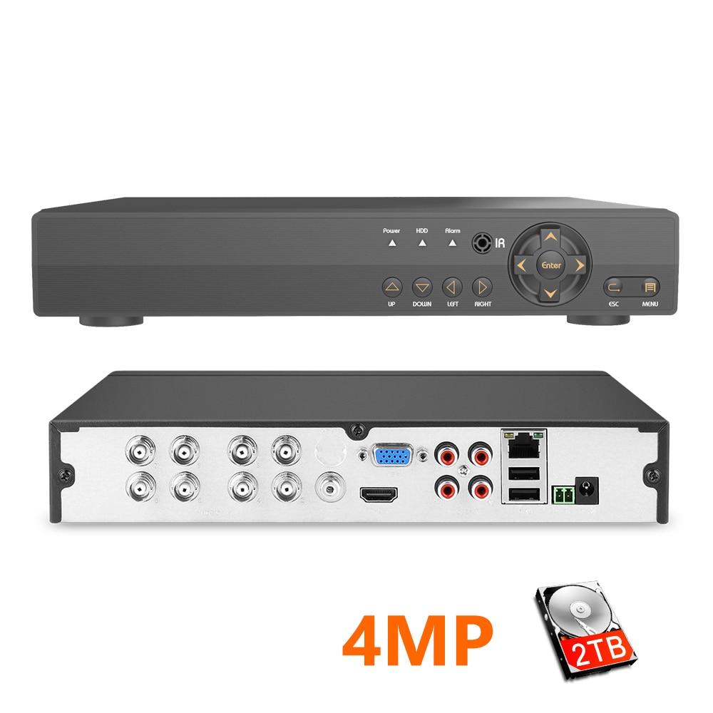 H.264 Security 8CH CCTV AHD DVR 4MP For AHD CVI TVI Analog IP Camera 4.0MP Hybrid Video Recorder 2K Video Output Surveillance Video Recorder     - title=