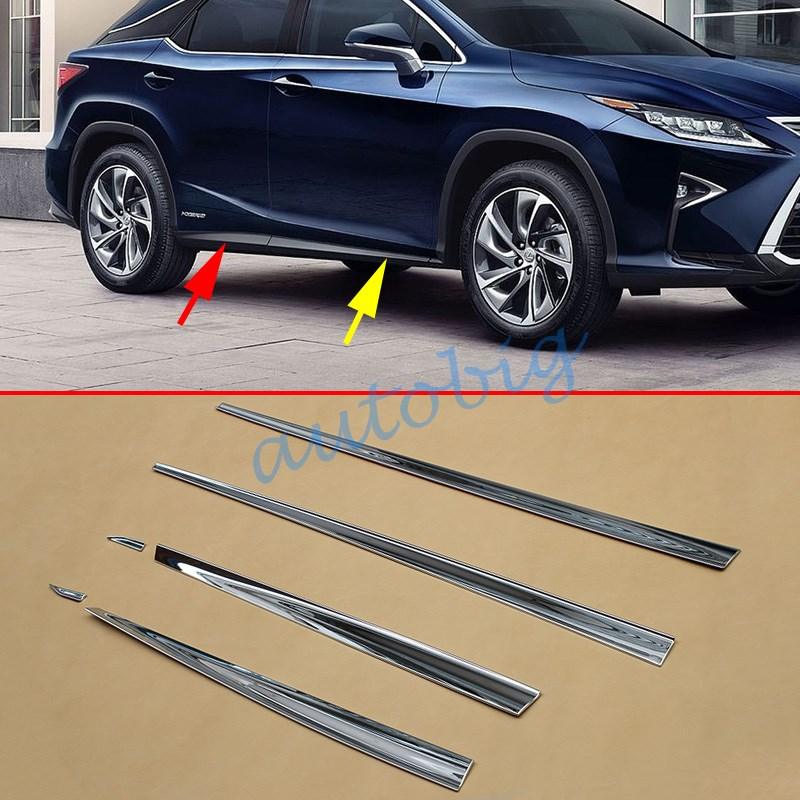 (SET OF 6) Chrome Door Body Molding For Lexus RX350 RX450h AL20 2016 2017 Accessories Decoration-in Chromium Styling from Automobiles & Motorcycles    1
