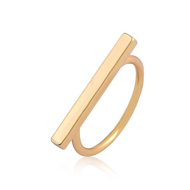 SMJEL New Fashion Simple Long Bar Engagement Finger Rings for Women Anel female