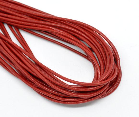 DoreenBeads Reale Monili di cuoio Corda Rosso 2mm (1/8 ), 1 M 2017 nuovoDoreenBeads Reale Monili di cuoio Corda Rosso 2mm (1/8 ), 1 M 2017 nuovo
