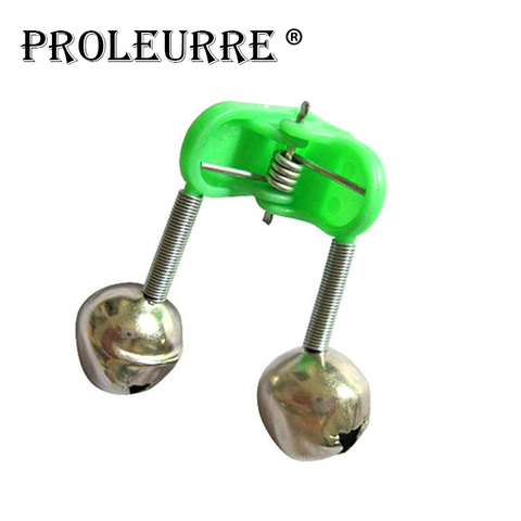 5 Pcs/lot  Bite Alarms fishing rod bells Fishing Accessory Rod Clamp Tip Clip Bells Ring Green ABS Outdoor Metal YJ-231 Lahore