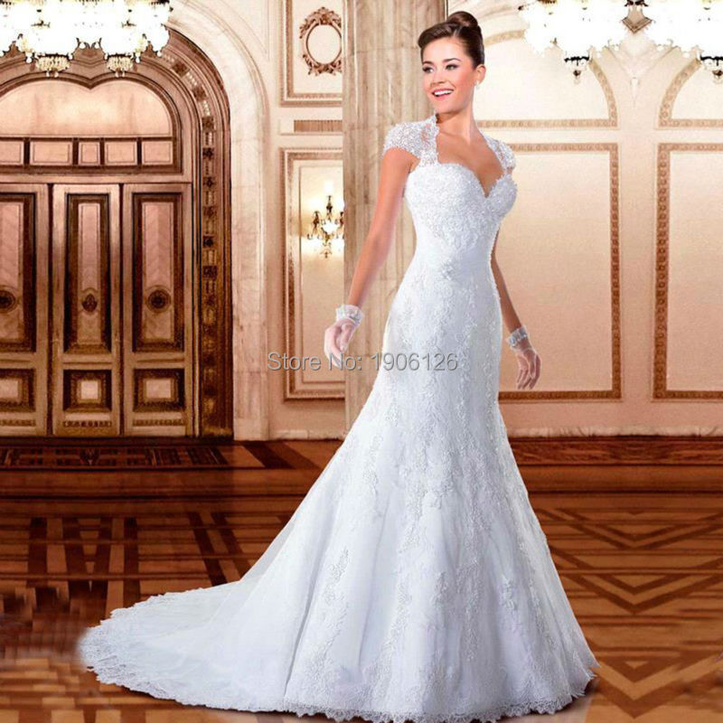 Mermaid wedding dresses with bling and lace high cut for Plus size wedding dresses in wichita ks