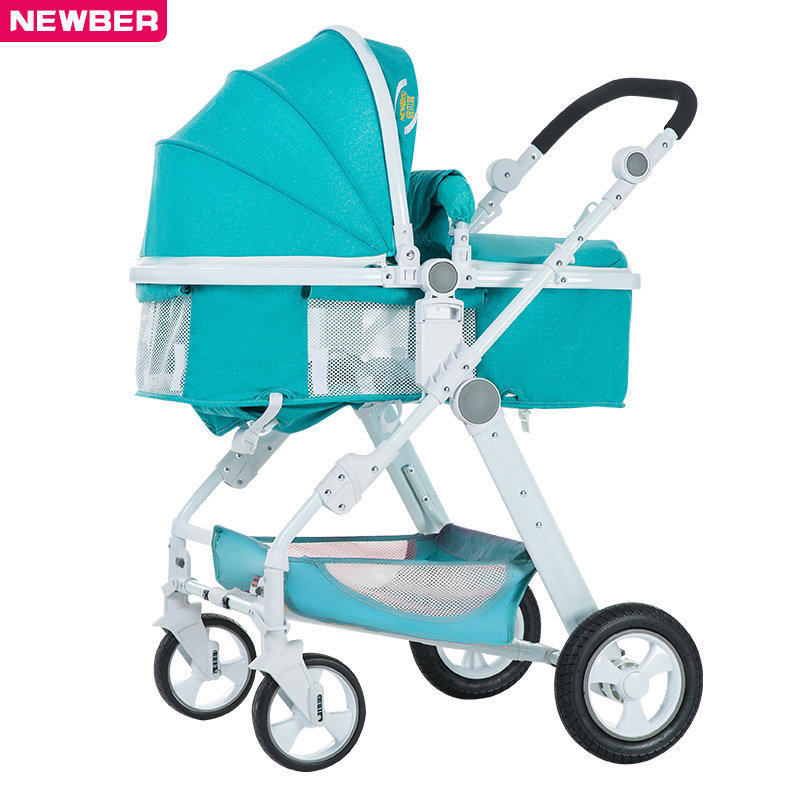 High View Baby Stroller Can Sit And Lie Baby carriage Universal lightweight folding  baby trolley рено сценик rx 4 в мурманске
