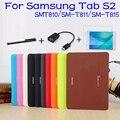 Negócios suporte dobrável capa de couro pu inteligente para samsung galaxy tab s2 9.7 t810 t815 tablet case + free screen protector + otg + caneta