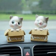 Автомобиль украшения милый кот качая головой котенка интерьера автомобильные аксессуары смолы High-end Творческий дом Для женщин подарок мультфильм