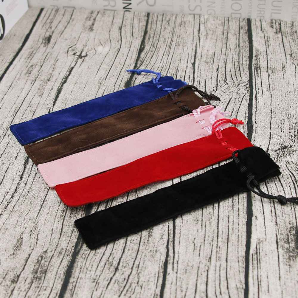 1 pcs  Velvet Pen Pouch Holder Single Pencil Bag Pen Case School Supply For Boy Girl Gift Hot Sale New Arrive