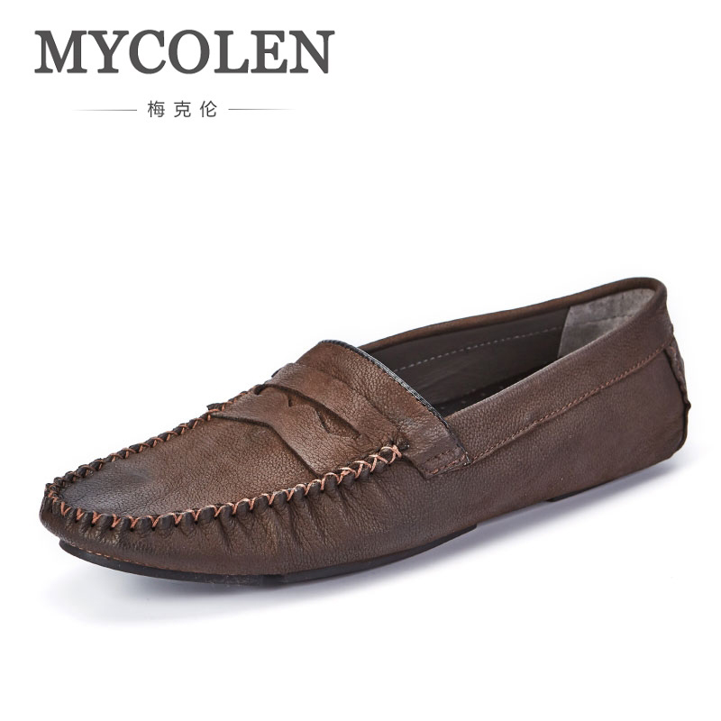 MYCOLEN Men Shoes Hot Sale Sneakers Slip On Shoes Men Casual Shoes Top Brand Breathable Male Footwear Spring/Autumn Boat Shoes mycolen 2018 new summer breathable men casual shoes slip on male fashion footwear height increasing sneakers sepatu casual pria