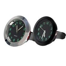Автомобильные часы с зажимом на вентиляционное отверстие, кварцевые мини часы, механика, автомобильные часы, украшения, авто украшение, черный, серебристый цвет, автомобильный стиль