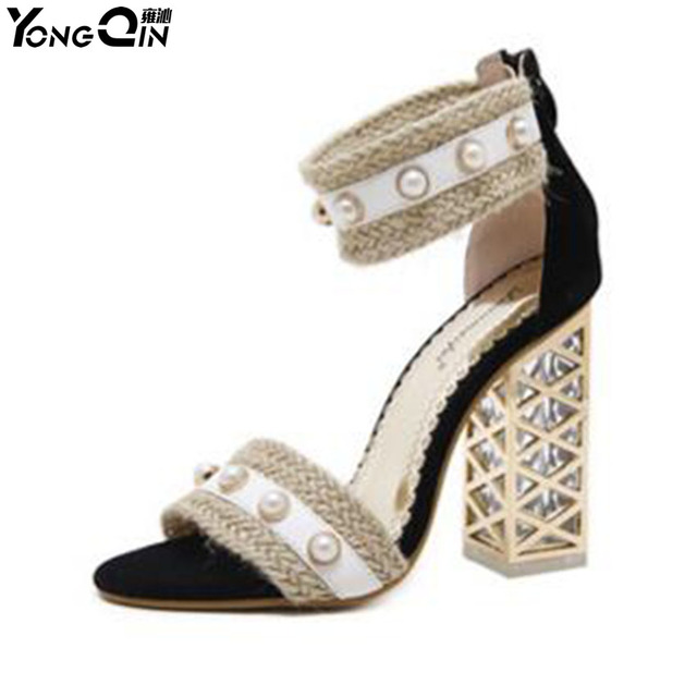 Summer 2018 New Crystal and Open-Toed Sandals clearance store online SAsF646X