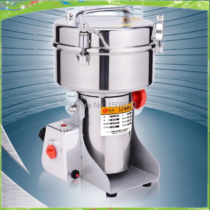 free shipping 1000g swing electric herbal powder machine grinder seasonings, spices, cereals & Herb Mills,dry herb grinder dry food grinder machine swing type electric grains herbal powder miller high speed spices cereals crusher w ce ccc