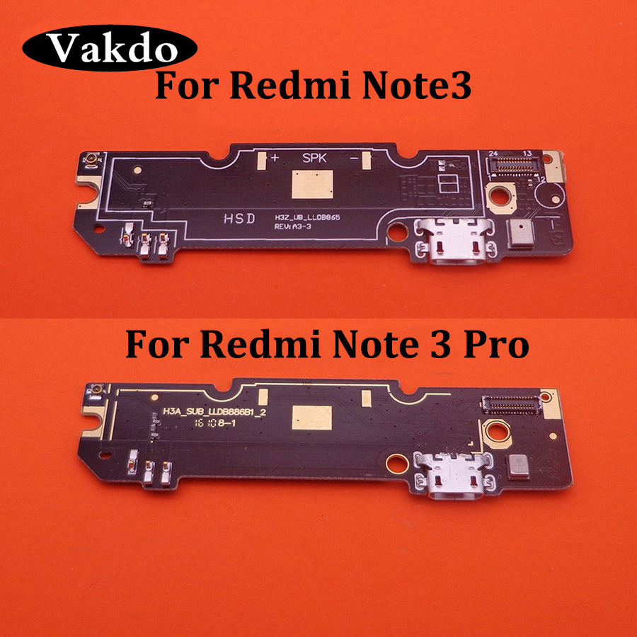 1pcs Tested Microphone Module+USB Charging Port Board Flex Cable Connector Parts For Xiaomi Redmi Note 3/Redmi Note3 Pro