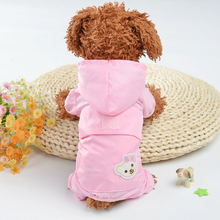 Cute Pet Dog Raincoat Clothes Puppy Outdoor Casual Waterproof Pink Jacket Costumes Rain Coat For