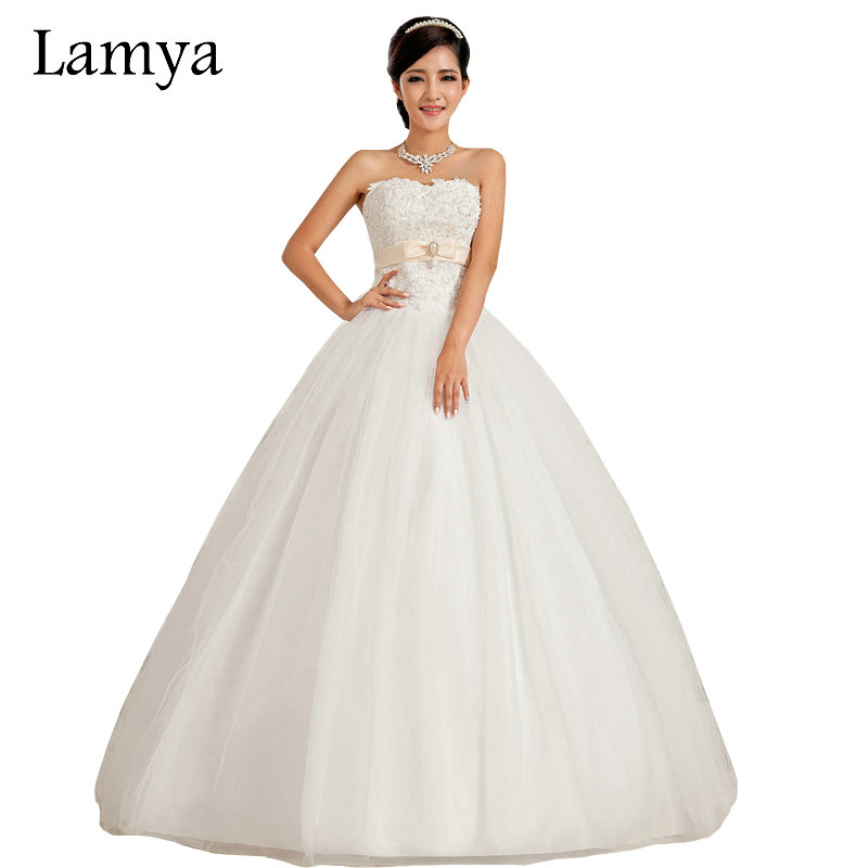 Lamya full size 2017 new pearl drop white luxury beading for Full size wedding dresses