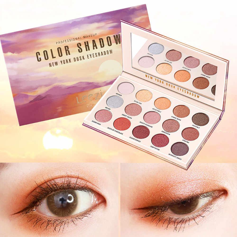 15 Warna Glitter Matte Eyeshadow Pallet Makeup Langit Berbintang Shimmer Glitter Eye Shadow Piring Bubuk Matt Eyeshadow