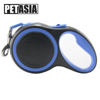 PETASIA 2018 New 5m Retractable Dog Leash Automatic Extending Walking Lead For Medium Large Dogs Up