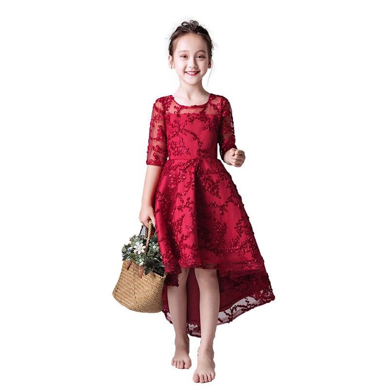 Vestido de verão para crianças vestido de Princesa tutu da Menina vestido de flores antes de o fio, vestido longo traje de piano show host