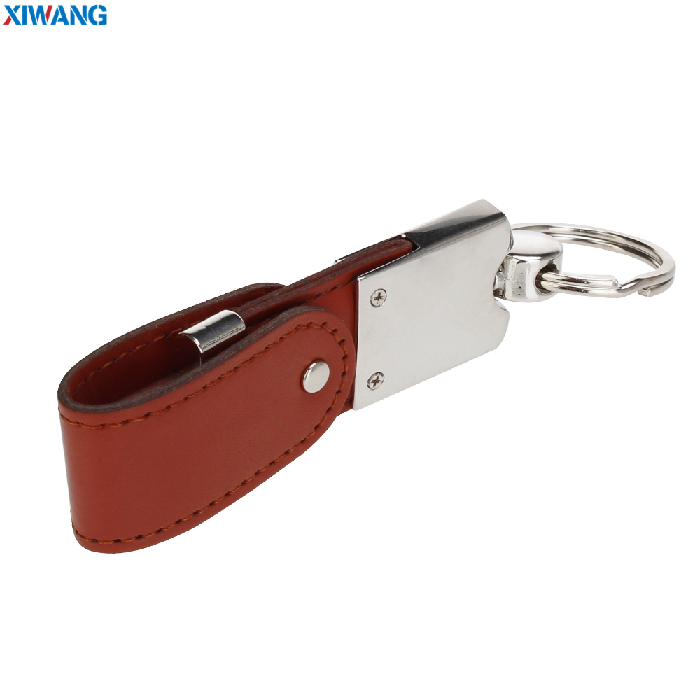 high quality Wrist band USB flash drive 64gb Leather metal keyring Pendrive 128GB 32GB 16GB 8GB 4GB USB2.0 Pen drive custom logo (10)