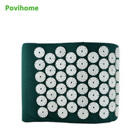 Massager Pillow Massage Cushion Acupressure Relieve Stress Pain Acupuncture Spike Yoga Pillow Drak Green C11316