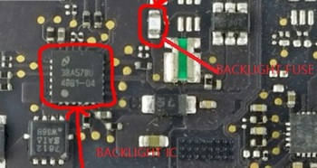 """2pair/LOT for LED BackLight IC Chip And Backlight fuse for Macbook pro retina 13"""" A1502 820- 3536-A logic board fix items"""