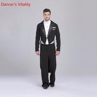 2018 бальные платье для танцев Розничная индивидуальный для Для мужчин бальные костюм смокинг хвост международных Стандартный для танцев 5 ш