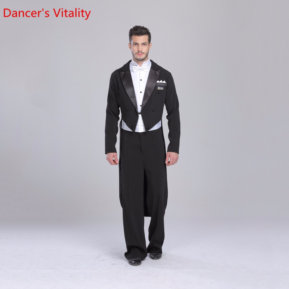 2018 Ballroom Dance Dress Retail Individual For Men Ballroom Suit Tuxedo Tail International Standard Dance 5 Pcs.Free Delivery