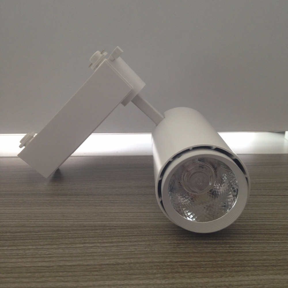 15W COB Track Lighting LED track light for store shopping mall lighting lamp White LED Spot light Ceiling Tracking Lamp 30pcs led track light50wled exhibition hall cob track light to shoot the light clothing store to shoot the light window