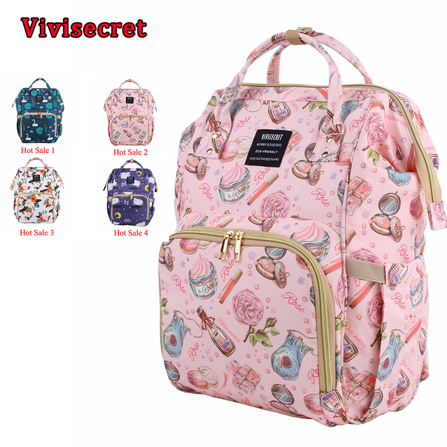 3a8ebf82822 New Printed Mummy Bag Maternity Diaper Bag Multi-functional Light Fashion Nappy  Backpack Waterproof Nursing Baby Bags for Mom