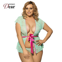 Comeondear Najlepiej Sprzedających Przednia Otwórz Lingeries RK80100Brand Nowy Z Bow Belt Sukienka Bielizna Erotyczna Babydoll Plus Size Seksowna Koszulka Nocna