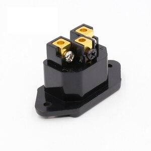 Image 3 - Hifi אודיו AC IEC מפרצון נקבה 24 k זהב מצופה עבור hifi amp מארז 1 יחידות
