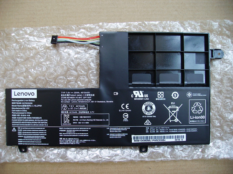 L15L2PB1 7.6V 35Wh Genuine Original Laptop Batteries For LENOVO Yoga 510-15ISK Convertible L15M2PB1
