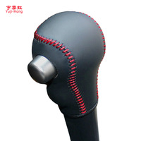 For Nissan March Note Automatic Gear Shift Knob Cover Hand Stitched Genuine Leather Gear Cover