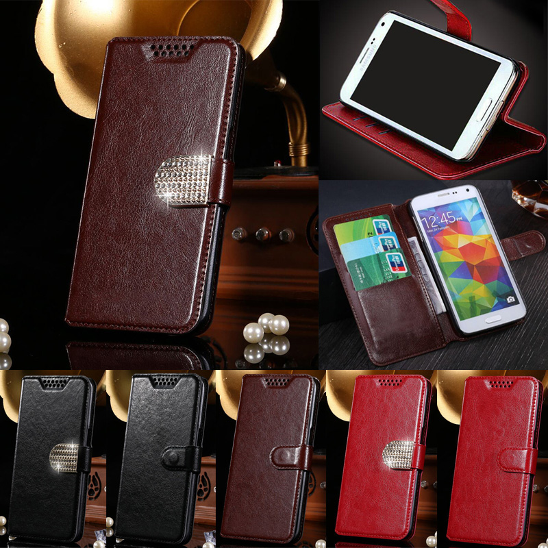 Luxury PU Leather Case Wallet Magnetic Cover Flip Coque With Card Holders For Fly Bag Cases For Fly IQ4503 ERA Life 6 Quad