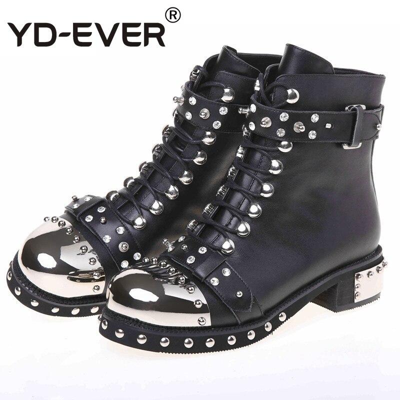 Zapatos Black Ceintures Punk Rivet Courtes Chaussures Moteur Mujer Bottes Gothique Dentelle Bout Femmes Transport white Rond Up Yd Style ever LRj5A4