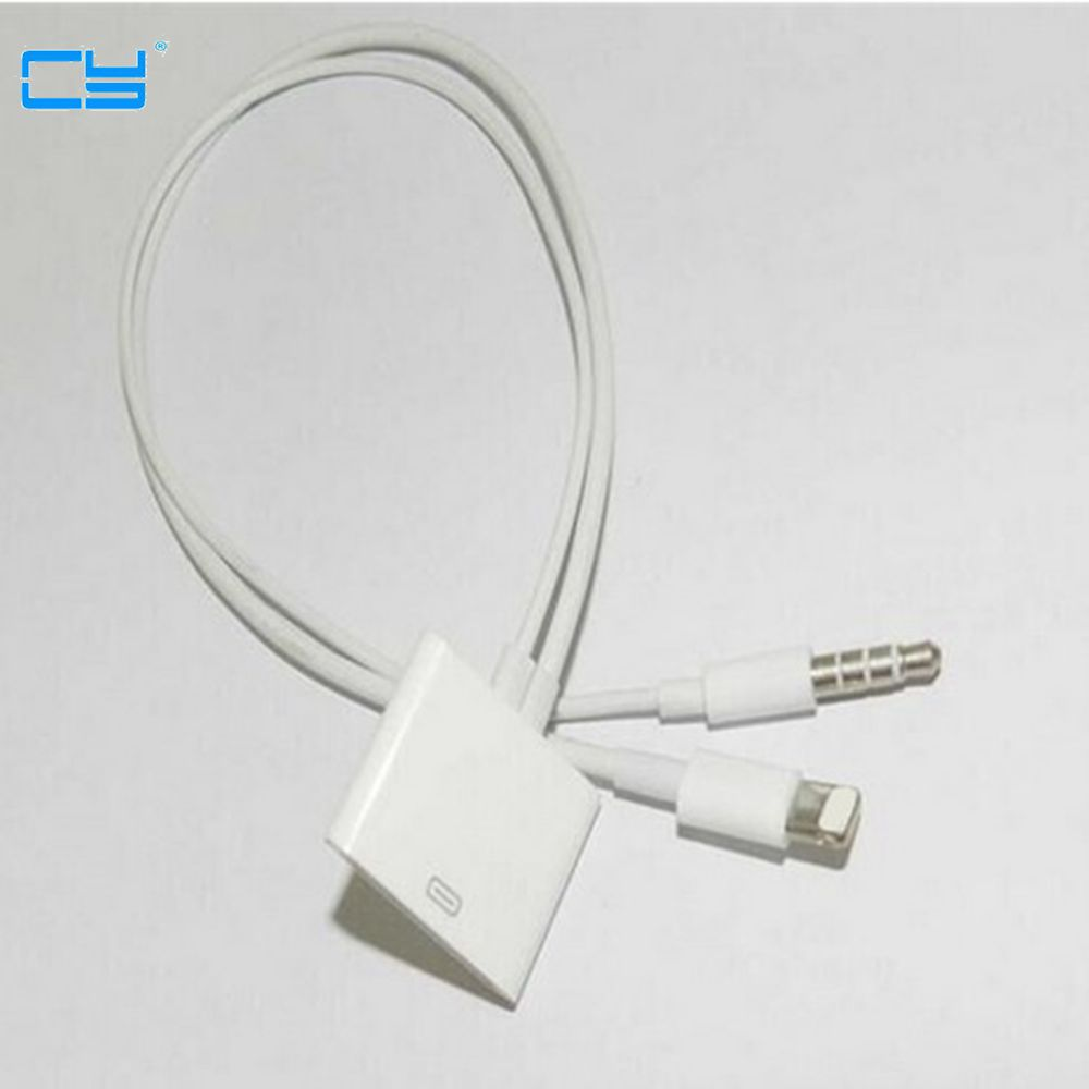 2017 new 8 Pin To 30 Pin Dock 3.5mm ihome Audio Charger Adapter Converter Cable For iPhone 6 6s Plus 5S to iphone 4S 30pin Dock-in Computer Cables & Connectors from Computer & Office
