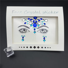 Temporary Face Stickers Easy To Operate Face Gems Rhinestone Temporary Tattoo Fashion Diy Face Stickers Party Body Glitter Stick(China)