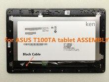 Envío Libre 10.1 pulgadas de Pantalla Táctil + Digitalizador Del Bisel Del Capítulo Para ASUS Transformer Book T100 T100TA Cable Negro Asamblea LCD