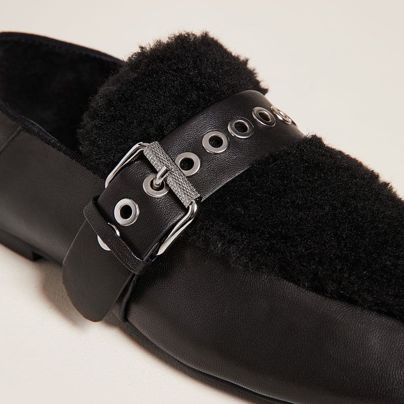 Partie Mode Mariage 45 Rond Chaussures automne Loisirs Taille Carrière Femmes Printemps Fourrure Appartements on Slip Grande Bureau Ty01 Bateau Bout De D'été FqfBPpwA