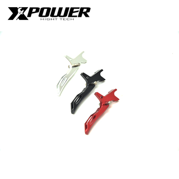 XPOWER RA STYLE FOR AEG Timer TRIGGER Aluminum For IPSC Airsoft M4/M16 Hunting Accessories AEG vulpo 3pcs lot high strength plastic double o ring air seal m4 nozzle cross style for airsoft aeg m4 hunting accessories