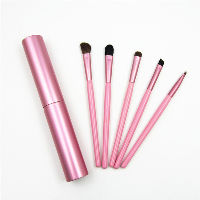 5pcs Travel Portable Mini Eye Makeup Brushes Set Reals Eyeshadow Eyeliner Eyebrow Brush Lip Make Up Brushes kit Professional 1