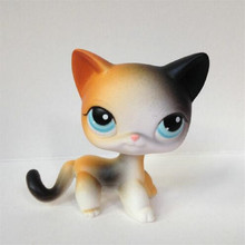 LPS Pet Shop Animal Cute Short Hair Colour Cat Model Action Figure Children Toys Classic Collection Birthday Gifts can animal model provence donkey papo 2010 wholesale children s toys classic collection