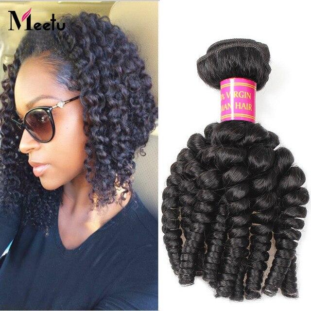 2016 Aliexpress Bouncy Curly Peruvian Virgin Hair 4Pcs Lot Natural Color 7A Virgin Peruvian Human Hair Weave Bundles 14-28 Inch