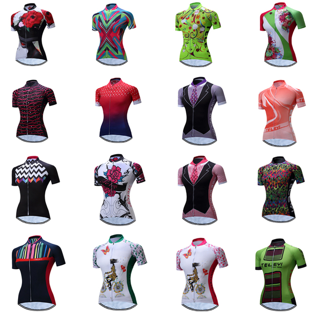 Cycling jersey women 2018 pro team maillot mtb motocross triathlon bycicle mountain clothing bike shirt wear retro funny clothes