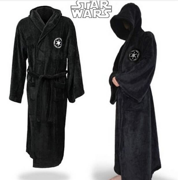 New Adulto Sleepwear Jedi/Preto Sith Star Wars Robe Roupão Capa Manto Dos Homens