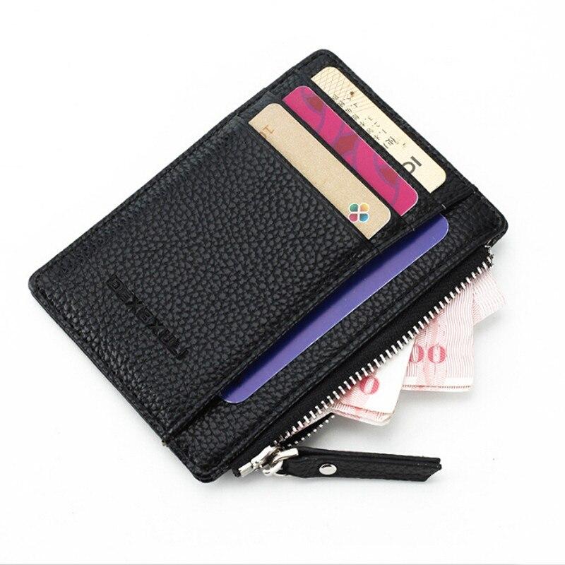 Wallet Mini PU Leather Card Holders Credit Cards Slots Purse Small Men Carteira Women Zipper Coin Pocket Short Ultra Thin Wallet