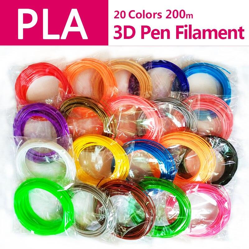 Producto de calidad Pla 1.75mm 20 colores 3D filamento Pla 1.75mm Pla plástico ABS filamento 3D filamento 3D pla impresora 3D pluma alambre