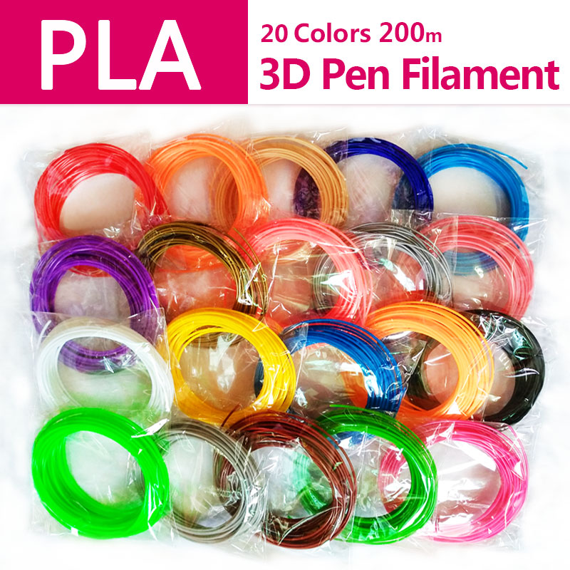 Qualität produkt pla 1,75mm 20 farben 3d stift filament pla 1,75mm pla kunststoff abs filament 3d filament 3d-drucker pla 3d stift draht